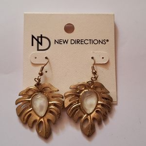 New Directions Palm Leaf  Earrings